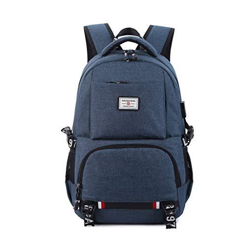 TAOtTAO Rucksack USB-Aufladerucksack-Reisetasche mit großem Fassungsvermögen Computerrucksack koreanische beiläufige Tasche Oxford-Stoffpaarrucksackreiserucksack (B)