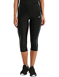 Ultrasport Women's Running Pants Capri with Compression Effect & Quick-Dry-Function