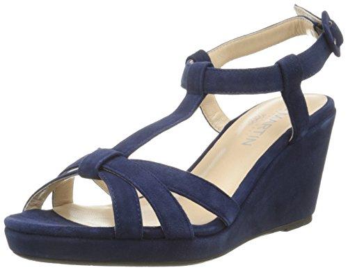 Jb Martin Quideo E16, Sandales Femme Bleu (Chevre Velours Saphir)