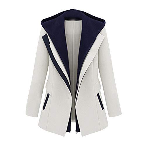 Gold Long Sleeve Rock Anzug (Damen Blazer Cardigan Dünn Long Sleeve Removable Hooded Geraffte Ärmel Elegant Bolero Business Jacke Blazer Slim Fit Anzug Trenchcoat Coat)