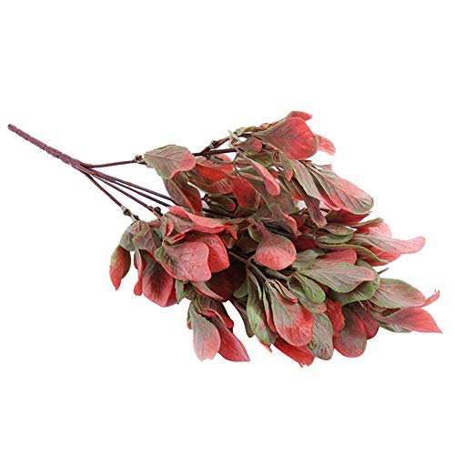 Amorar Künstliche Blume Simulation Grünpflanze Plastik gefälschte Blume Blumenschmuck Seiden-Blumen Grünes Blatt Kunstblumen für Home Hotel Hochzeit Party Blumengarten florales Dekor -