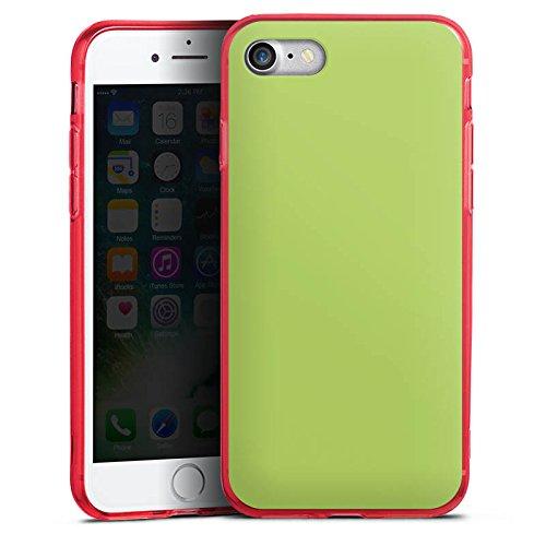 Apple iPhone 8 Silikon Hülle Case Schutzhülle Lindgrün Frühling Grün Silikon Colour Case rot