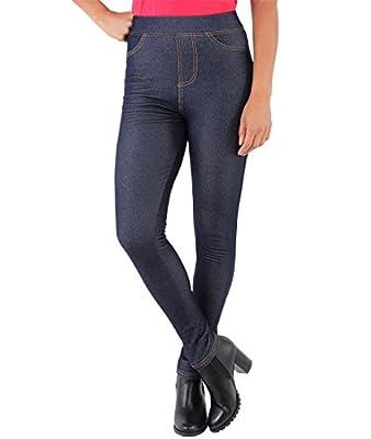 KRISP Womens Warm Fleece Leggings Lined Stretch Denim Jeans Thermal Jeggings Trousers Tights