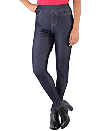 KRISP® Femmes Legging Jeans Jegging Stretch Polaire Taille Haute