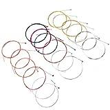 CODIRATO 3 Set di 6 Pezzi Corde per Chitarra Acustica Corde di Ricambio in Ferro 1 Set Ottone 1 Set Rame e 1 Set Multicolore