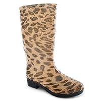 Ladies Leopard Print Wellies