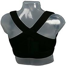Aparato de soporte m_dico para una postura perfecta para hombres y mujeres. Ayuda a aliviar el dolor de cuello y de hombros, evita posturas encorvadas y proporciona eficiencia al respirar. Puede ser usado para deportes como el golf, equitacÑn, y actividades como correr.