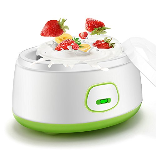 lzndeal Bricolaje casa eléctrica Yogurt máquina Fabricante automático de Ahorro de energía Mini Liner de Acero Inoxidable