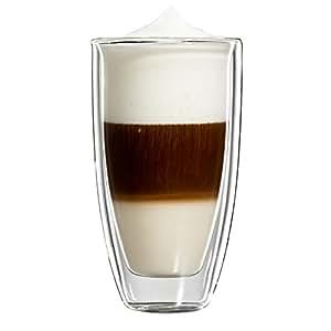 Bloomix C-114-350-G Roma Lot de 2 verres isothermes double paroi pour grand latte macchiato