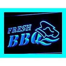 PEMA Lichtfluter i068-b OPEN Fresh BBQ Neon Light sign Barlicht Lichtwerbung Neonlicht
