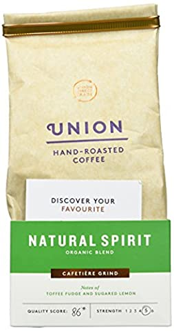 Union Organic Hand Roasted Natural Spirit Blend Ground Coffee 200 g (Pack of 6)