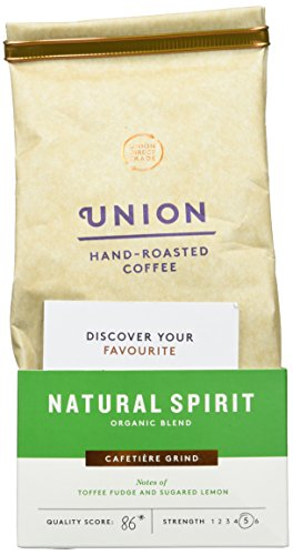 Union Organic Hand Roasted Natural Spirit Blend Ground Coffee 200 g (Pack of 6) 41jRLXkYbtL