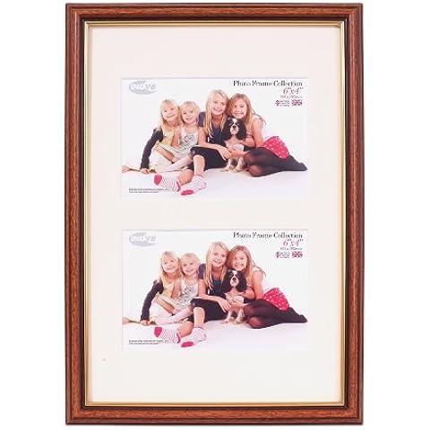 Inov8 - Marco de fotos (madera de roble clara, 20 x 30 cm, con doble apertura para 2 fotos de 15,2 x 10,1cm)