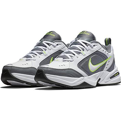 Iv-weiß Schuhe (Nike Herren Air Monarch IV Gymnastikschuhe, Weiß White/Cool Grey/Volt/Anthracite 100, 46 EU)