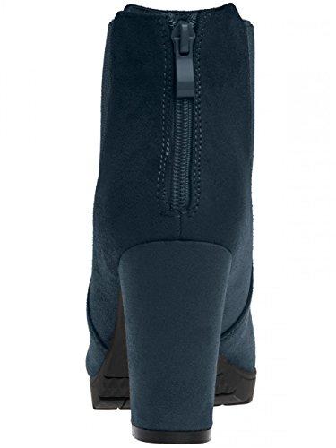 CASPAR SBO053 Scarpette con tacco e vassoio, da donna bleu foncé