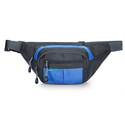 Estwell impermeabile marsupio cintura tasche outdoor sport viaggio marsupio per escursioni, corsa, ciclismo, pesca, donna, blau
