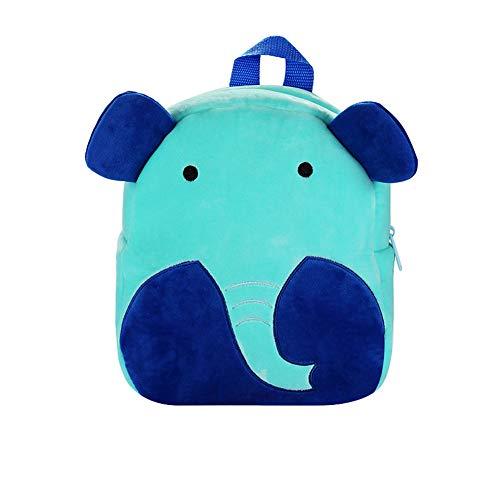 Ikavee Mochila Escolar para niños, Mochilas para niños pequeños con diseño de Animales Elefante 26 * 28 * 12cm