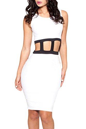Dissa® femme Blanc SY6478 robe de cocktail Blanc