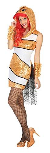 Roter Fisch Kostüm - ATOSA 15541 - Fisch, Damenkostüm, Größe