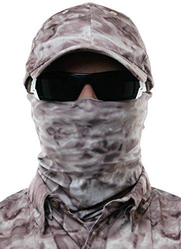 Upf Camo (Aqua Design Wasser Camo UPF 50+ Sun Guard Schutz Maske Gesicht Tube Mehrzweck Wind Kopf Hals Größen Youth zu Erwachsenen-XL Sport Angeln Rucksackreisen Gaiter S Pacific Sand)
