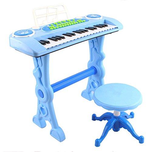 deAO Teclado Electronico Infantil - Piano Karaoke 37 Teclas con Microfono, Taburete,...
