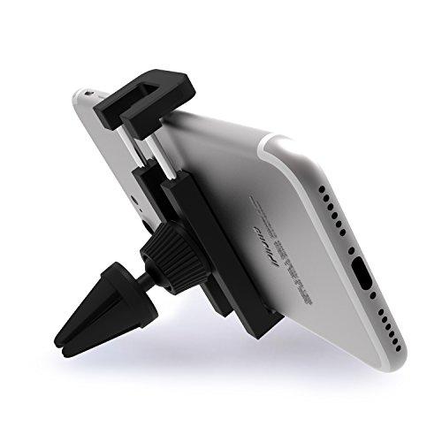iVoler - Supporto Auto Smartphone Telefoni Cellulari 360 Gradi di Rotazione Porta Cellulare Universale Air Vent Car Mount per iPhone 7/7 Plus/6S/5S/5C/SE, Samsung Galaxy S7/S7 Edge/S6/S6 Edge/S5, Nexu Nero