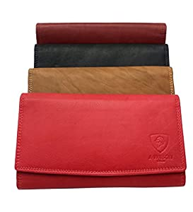Ladies Designer Luxury Quality Soft Nappa Leather Purse Multi Credit Card Women Clutch Wallet with Zip pocket