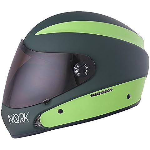Peg nork. One Downhill–Tabla de longboard/bicicleta de montaña Racing–Casco camuflaje verde