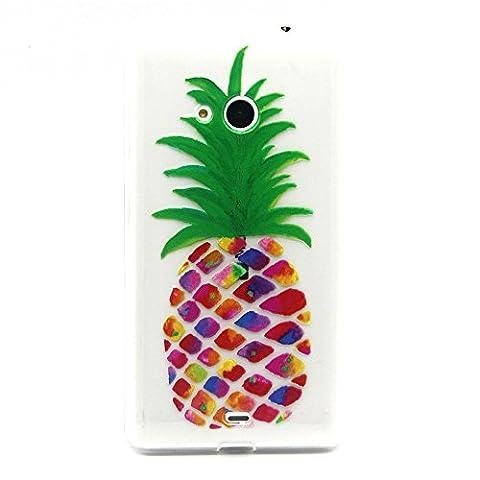 Meet de Coque pour Nokia Lumia 535 /N535, Nokia Lumia 535 /N535 Bumper Case, Slim de Protection Téléphone Case , (motifs peints) Coque / Housse Silicone / Etui Case / Cover / Transparent Crystal Clair Soft Gel TPU pour Nokia Lumia 535 /N535 - HX4-A21