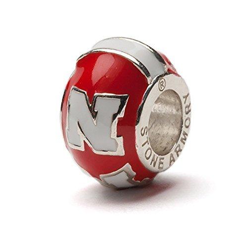 University of Nebraska Cornhuskers rot mit weiß Block