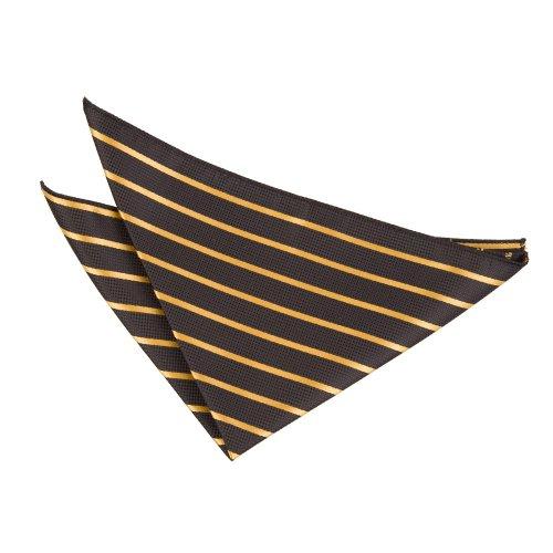 DQTHerren Taschentuch Mehrfarbig Schwarz und Gold (Mikrofaser-satin-anzug)