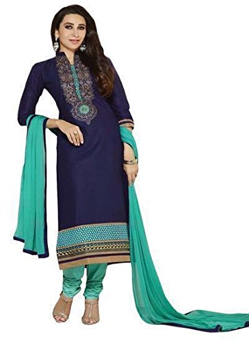 Sky Global Women's Poly Printed Unstitched Regular Wear Dress Material (SKY_560_Blue) image - Kerala Online Shopping