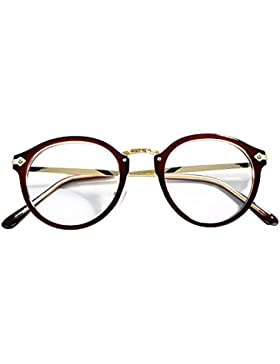 NALATI Retro Brillen Nerdbrille