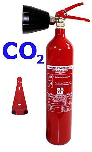 Preisvergleich Produktbild CO² Feuerlöscher 2kg mit Schneerohr + Halter von HausundWerkstatt24