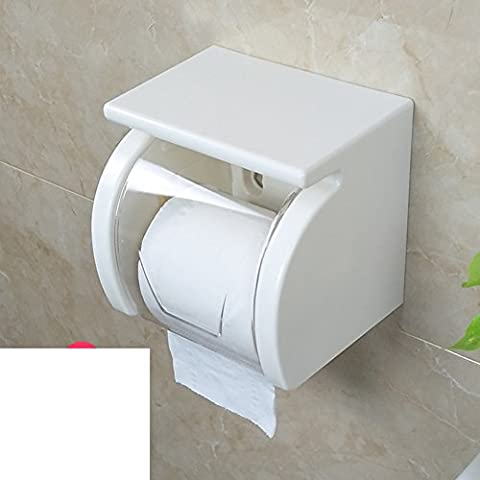 bathroom tissue box/ toilet paper roll tube/Punch-free waterproof toilet roll holder/Suction toilet paper box/Tissues holder -B