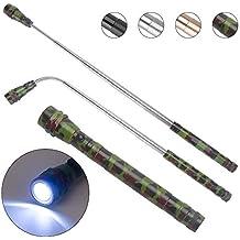 KIMILAR Linterna LED retráctil Flexible con Herramienta de Recogida  magnética 304a688bfb91