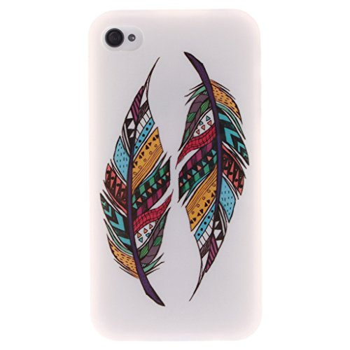 MYTHOLLOGY iphone 4s Coque, Doux Flexible Case Silicone TPU Protection Cover Housse iphone 4 / iphone 4s Drapeau CSYM