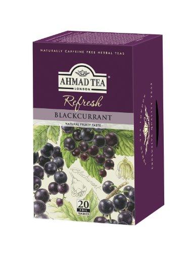 Ahmad Tea – Blackcurrant | Früchtetee mit Johannisbeer-Geschmack | 20 Teebeutel á 2 g mit Band