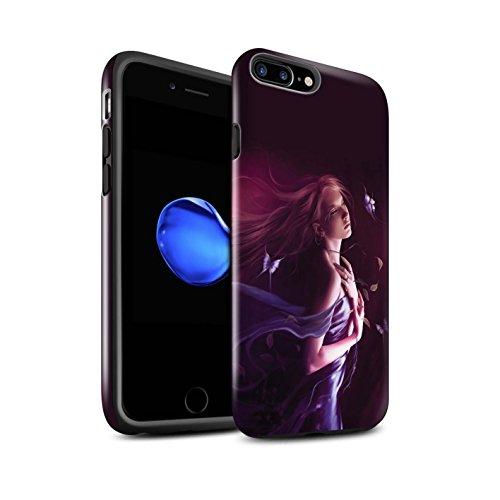Officiel Elena Dudina Coque / Brillant Robuste Antichoc Etui pour Apple iPhone 8 Plus / Éclaboussure Rouge Design / Un avec la Nature Collection Par le Vent