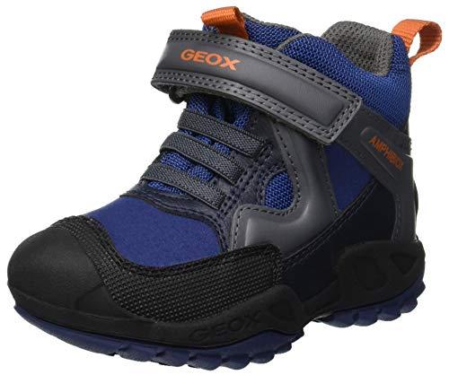 Geox Jungen J New Savage Boy B ABX A Hohe Sneaker, Blau (Blue/Dk Grey C0002), 34 EU