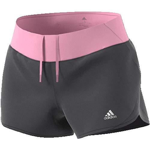 adidas Damen Run IT W Shorts, Grey six/True pink, M 3 Zoll