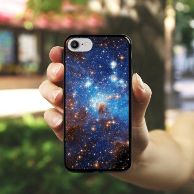 Apple iPhone X Silikon Hülle Case Schutzhülle Space Galaxy Große Margellansche Wolke Hard Case schwarz