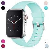 Maledan Compatible con Apple Watch Correa 40mm 38mm, [Hebilla Clásica] Pulsera de Repuesto Ajustable de TPU Suave Correa for iwatch Apple Watch Series 4/3/2/1 S/M Mar Azul