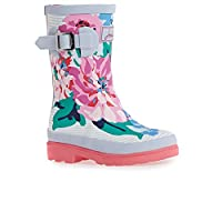 Joules Jnr Welly Print Wellies UK 12 (Jnr) White Floral Stripe