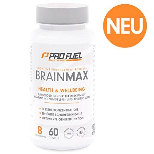 Brain Booster Kapseln – Nootropic für Konzentration – Energy Boost mit Vitamin B Komplex und L Theanin/60 Caps (Ginkgo Biloba-60 Kapseln)