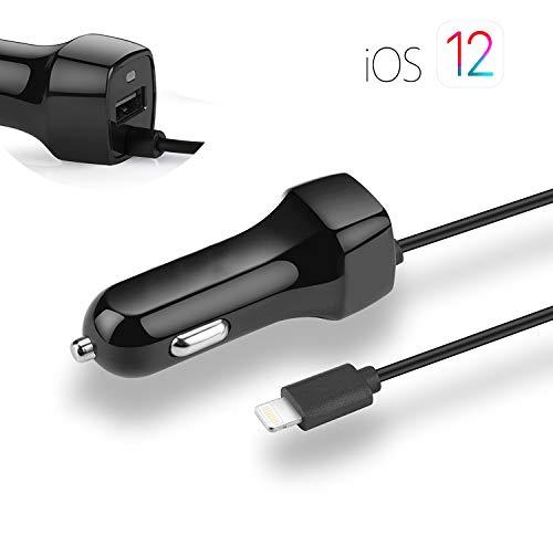 Phone Star Kfz Auto Ladekabel und USB Port [Car Charger] Autoladegerät kompatibel mit iPhone XS, XS Max, XR, X, 8, 8 Plus, 7, 7 Plus, 6, 6s, 6 Plus, 6s Plus, Android Smartphones (Iphone 6 Plus Auto-ladegeräte)