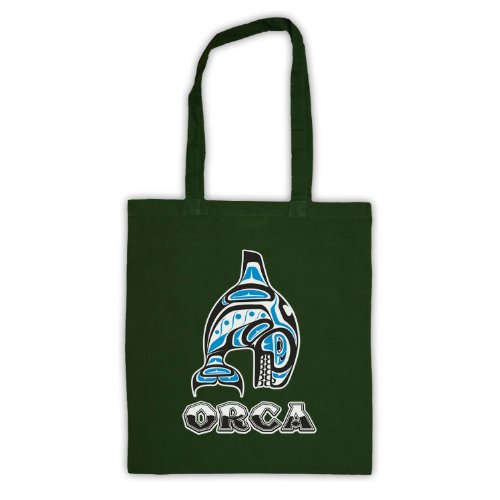 My Icon Art & Clothing , Borsa da spiaggia  Uomo-Donna Verde scuro