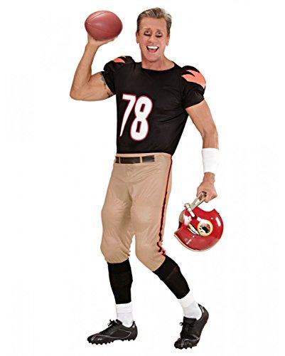 Football Player Kostüm für Karneval, Superbowl Party und Junggesellenabschied M