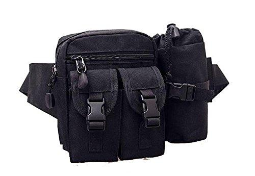 buyhere Haustierhalsband mit Utility Tactical Wandern Hüfttasche Schwarz