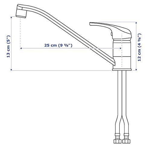 IKEA LAGAN Einhand-Mischbatterie für Küche; verchromt - 3